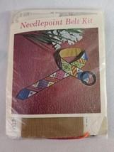 Bucilla Needlepoint 4398 Patchwork Belt Kit Fits Up To 33 Inch Waist - $16.40
