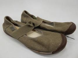 Keen Sienna Mary Jane Size US 7 M (B) EU 37.5 Women's Canvas Shoe Brown 1014217
