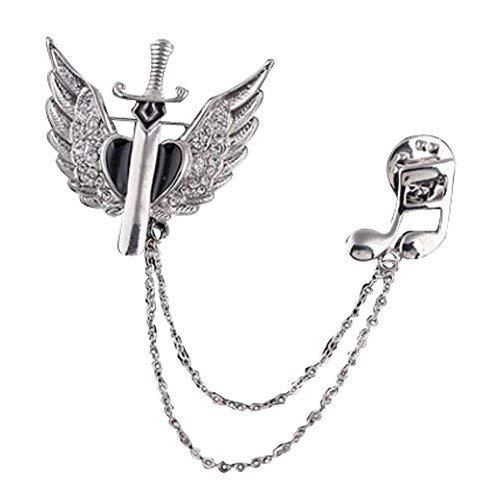 Fashion Accessories Rhinestone Tassels Badge Alloy Material Silver Plated Brooch