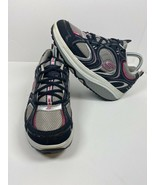 Skechers Womens Shape Ups Action Packed Walking Shoes Blue 11806 Lace Up... - $27.99