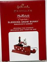 Hallmark  Sledding Snow Bunny - Marjolein's Garden 7th Keepsake Ornament... - $24.74