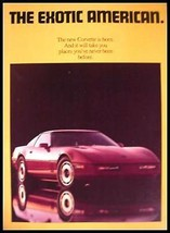 1984 ORIGINAL Chevy Corvette GM Color Dealer Brochure 84 - $8.36