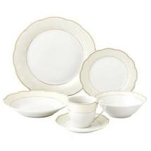 La Luna 24-Piece Formal Gold Accent Porcelain Dinnerware Set - $49.50