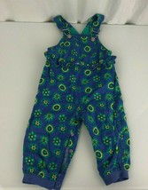 Vintage 1997 Gymboree Country Club Overalls Romper French Blue Yellow Flower XS - $49.00
