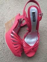 White House Black Market 10 wedge sandal shoes ... - $19.80