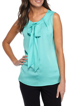 NWT TOMMY HILFIGER  BLUE GREEN  CAREER   BLOUSE SIZE L $59 - $25.86