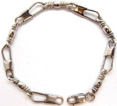 ACTS Bracelet Fisher Of Men Sterling Silver LARGE LINK, Original Design!! - €70,45 EUR