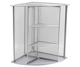 EasyPAG Mesh Desktop Shelf Corner Organizer File Holder, Silver - $22.16