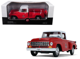 INTERNATIONAL HARVESTER C1100 PICKUP TRUCK RED/ white 1/25 BY FIRST GEAR... - $68.95