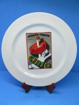 """Pottery Barn Vintage Posters 11.5"""" Dinner Plate Extracto De Tomates - $14.70"""