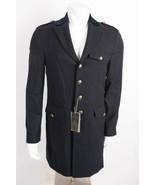 Zara Man Mens Military Coat Jacket Sz Large Navy Blue Gold Buttons 6498/... - $202.21
