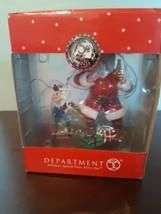 Dept 56 75th Coca Cola Santa Ornament Santa With Elf 2006 Holiday Christmas - $14.80