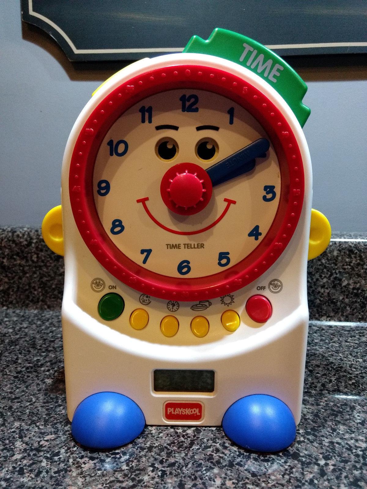 Playskool Teachin Time Talking Clock Toy Digital and Dial 1995 PS-725