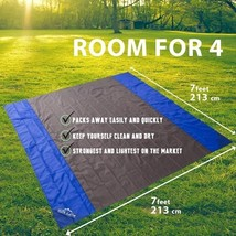 Portable Multi Use Outdoor Picnic Beach Waterproof Blanket Sand Proof Ta... - $22.00