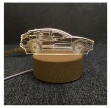 3D LED Lamp Creative Wood grain Night Lights Novelty Illusion Night Illu... - £9.51 GBP