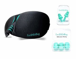 Sleeping Eye Mask + Noise Cancelling Ear Plugs + Silicone Putty Ear Plug... - $425,21 MXN