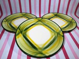 1940's Vernon Kiln USA Pottery Vernonware Gingham 3pc Dinner / Lunch Pla... - $28.00