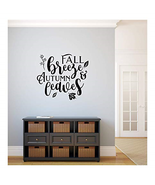 Fall Breeze And Autumn Leaves Vinyl Wall Decal 22548 - $41.53