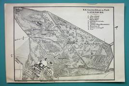 1905 MAP Baedeker - AUSTRIA Laxenburg City Park & Castle Plan - $6.71