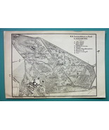 1905 MAP Baedeker - AUSTRIA Laxenburg City Park & Castle Plan - $6.71