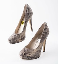 Michael Kors Womens Leather Snake Skin Platform Stiletto Heels Pumps Siz... - $49.49
