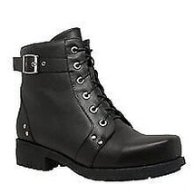 Women's Double Zipper Bike Boot Leather Shoes Daniel Smart Motorcycle Boots - $119.95