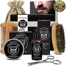 Beard Kit Beard Care & Grooming Kit for Men Gifts, Natural Organic Beard Oil, Be