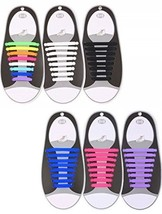 Hestya 6 Pairs No Tie Shoelaces For Kids And Adults For Waterproof Rubbe... - $35.82