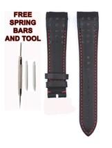 Compatible Seiko Sportura SNAE77J1 21mm Black Genuine Leather Watch Strap SKO111 - $38.48