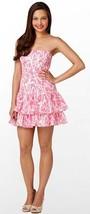 Lilly Pulitzer Elinor Hotty Pink Light My Fire Strapless Seersucker Dress - $107.99