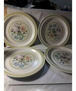"4 Royal Doulton Dubarry LS1011 Lambeth Stoneware Plates 8 1/2"" England 1974 - $19.79"
