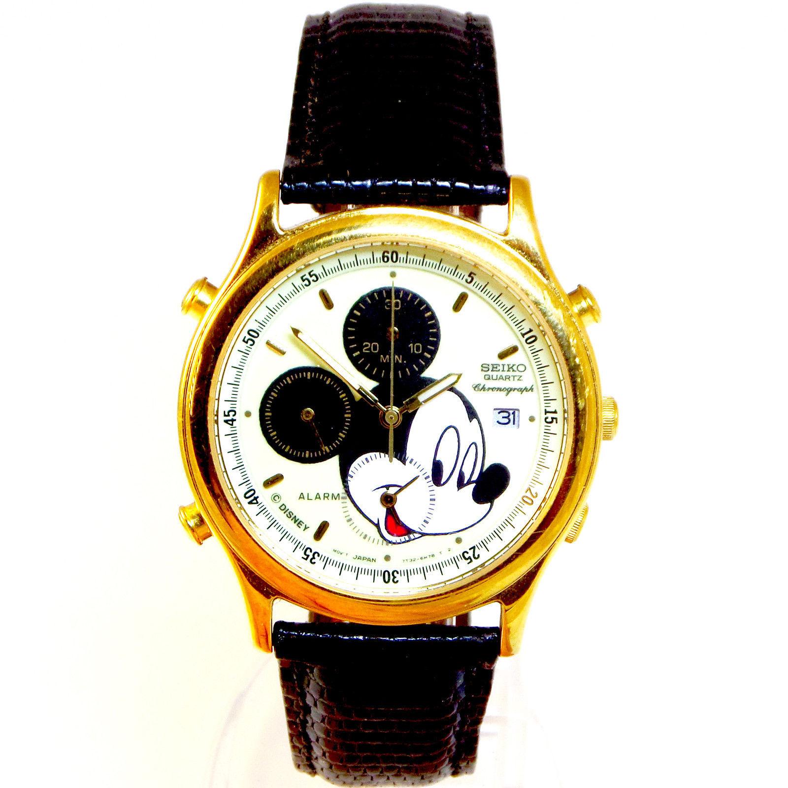 Seiko Mickey Chrono, Alarm, Men's Lumibrite Glow Rare Never Worn Watch Just $279