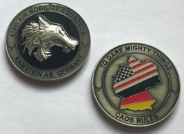 USAF Air Force 435th Air Mobility Squadron Ramstein Air Base GERMANY Coin - $39.59