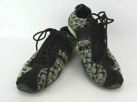 Coach Remonna Signature Jacquard Suede Fashion Sneakers Size 7.5 - $92.65
