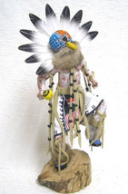 "Navajo Hopi 18.5"" AHOLA CHIEF Kachina Doll Katsina Sculpture by Sammie Walker - $309.00"