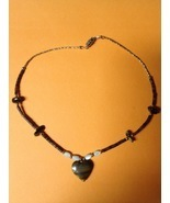 TIGER EYE Mother of Pearl NECKLACE - 15 3/4 inches - FREE SHIPPING - $25.00