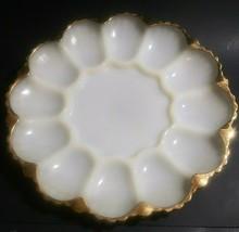 Unbranded White With Gold Trim Deviled Egg Platter - $14.82