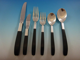 Contrast by Lunt Sterling Silver Flatware Set Service For 8 Mid Century Modern - $4,600.00