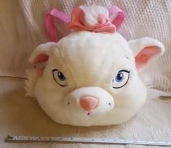 Disney Marie Cat Aristocats White Plush Stuffed Animal Backpack Hard 2 F... - $23.38