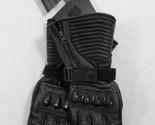 ICON 1000 Ladies FAIRLADY Long Leather Motorcycle Gloves Black Sz-Large $140.99