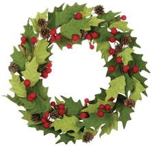 Sullivans Felt Holly Berry Wreath, 22' Each, Green - $56.19