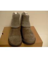 Womens UGG Shaina Grey Gray Knit Boots NEW 1012534 Cuff size 10 - $128.65