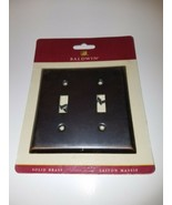 Baldwin Solid Brass Antique Laiton Massif Double Toggle Classic Switch P... - $13.95