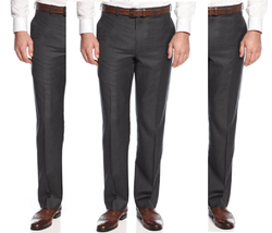 Lauren Ralph Lauren Men's Classic-Fit Charcoal Neat Wool Dress Pants,32X... - $69.29