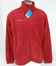 Columbia Sportswear Steens Mountain Burgundy Zip Front Fleece Jacket Men... - $48.74