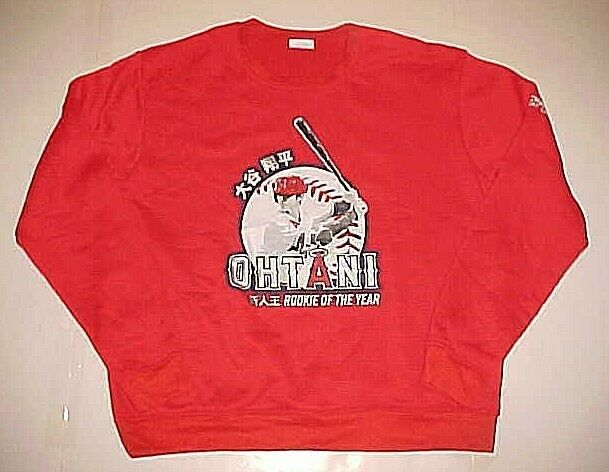 Primary image for Anaheim Angels Shohei Ohtani MLB Rookie Of The Year Red Sweatshirt XL New