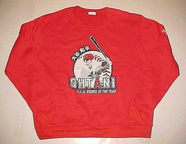 Anaheim Angels Shohei Ohtani MLB Rookie Of The Year Red Sweatshirt XL New - $24.74