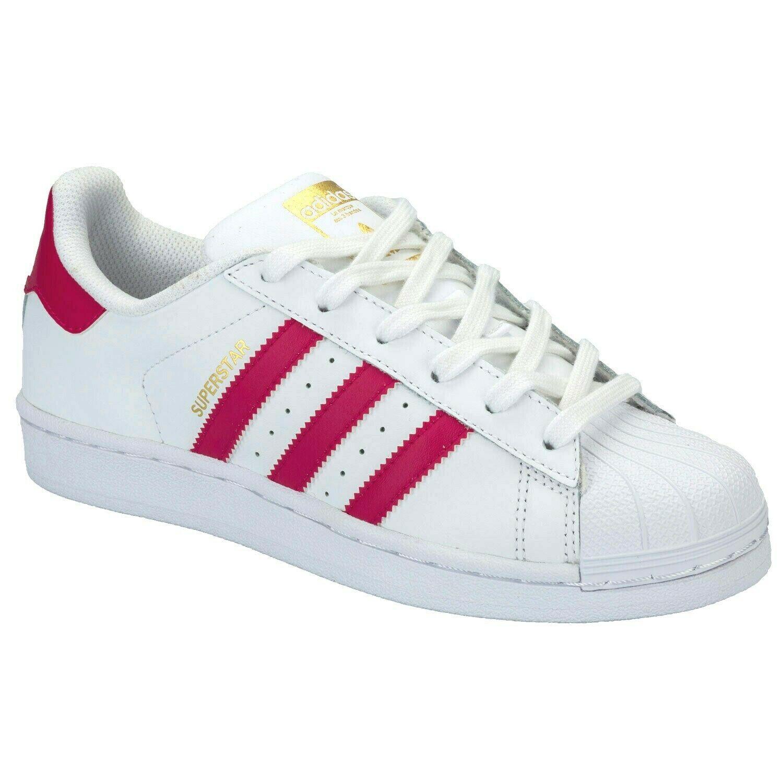 adidas Originals Superstar Foundation White Pink B23644 Junior Kids Sneakers - $49.95