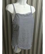 Kona Sol Women's Tankini Swim Top Sz L (12-14) Blue White Stripe Padded ... - $14.65