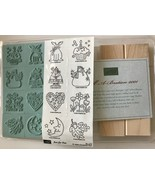 Just for Fun 8 Rubber Stamps Seasonal Holiday Pictures Stampin Up New U/... - $17.41